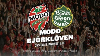 MODO Hockey tar emot Björklöven på onsdag kväll den 9 januari