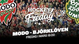 MODO Hockey mot IF Björklöven fredag 1 mars 19:00