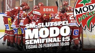 Semifinal 1 i Fjällräven Center tisdag 26 februari 18:00