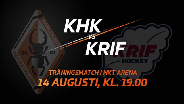 Träningsmatch mot KRIF Hockey