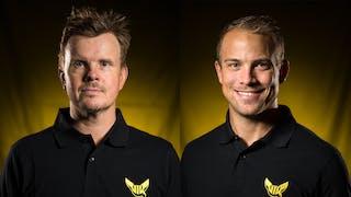 Jonas Norgren och Oskar Laurell, tränare VIK J18 Elit.