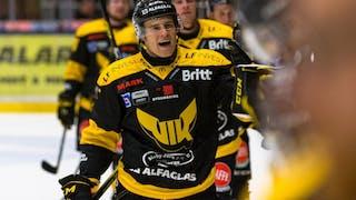 Västerås har precis gjort 3-1. Målskytt, en jublande KelseyTessier.