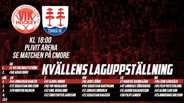 Laguppställning: Västerviks IK - Timrå IK