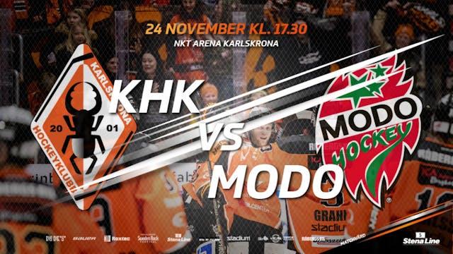 Hemmamatch när MODO Hockey gästar NKT Arena Karlskrona