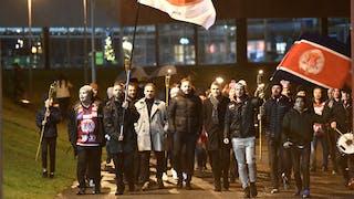 Supportermarschen Walk For VIK före matchen, foto Ilkka Ranta / Frilansfotograferna