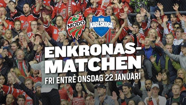 Modo: Enkronasmatch den 22 januari - Bidra till hockeyfesten!