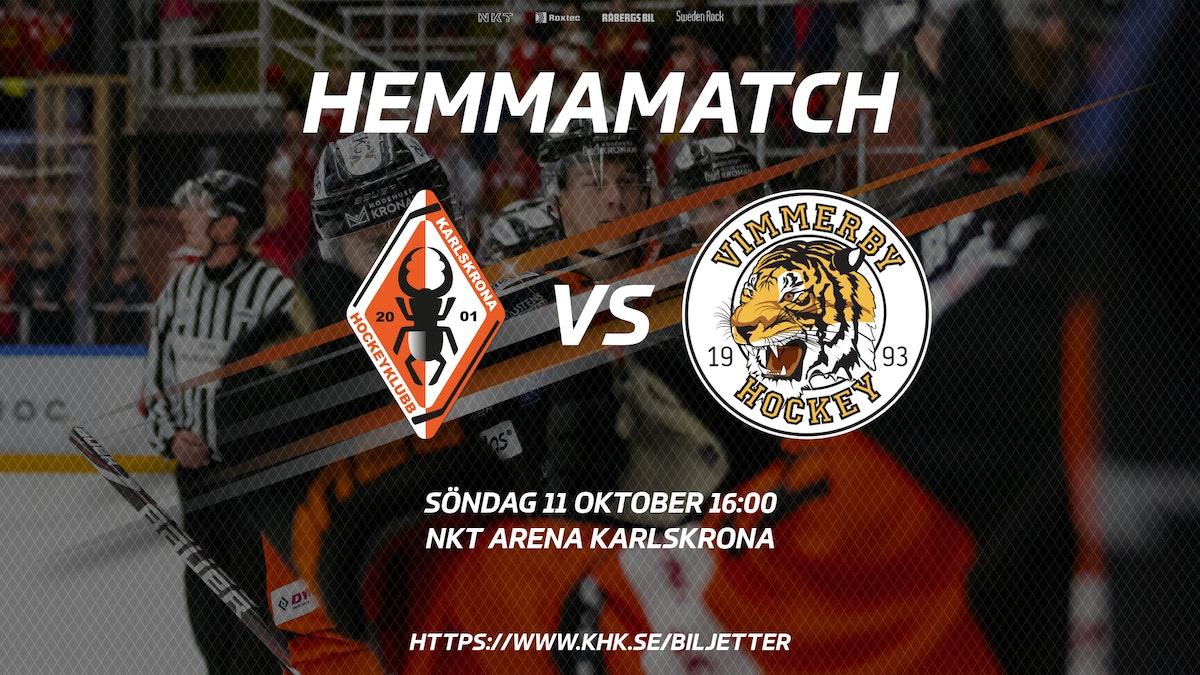 Information inför matchen mot Vimmerby HC