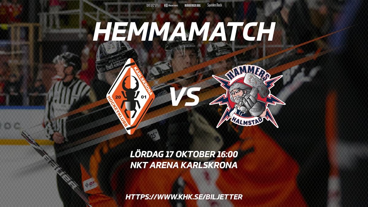 Information inför matchen mot Halmstad Hammers HC