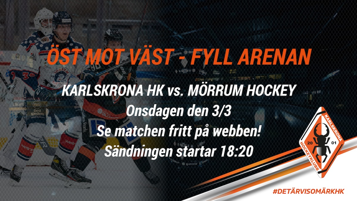 Se derbyt KHK vs Mörrum Hockey fritt via webben