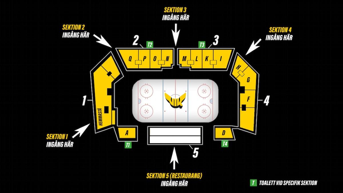 Biljettinformation ispremiären och träningsmatchen mot HV71
